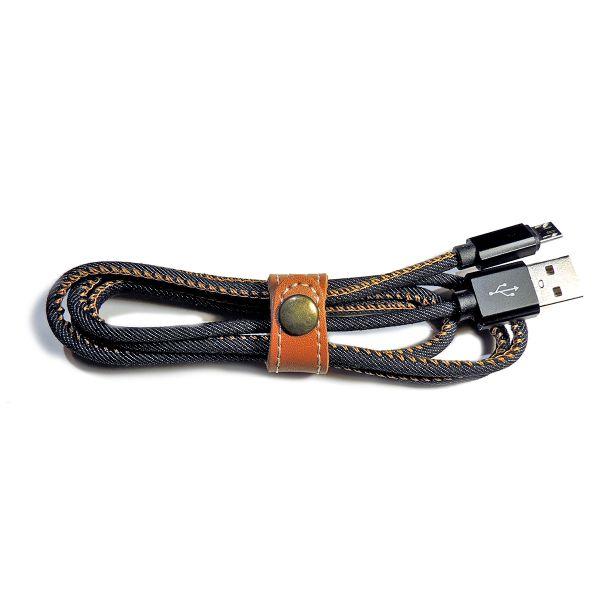Micro-USB Ladekabel 1M Textildesign - Hochwertig & Stylisch